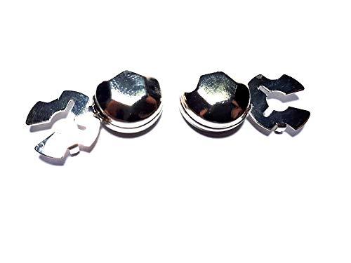 artesanal 1 par de cubrebotones 18 mm diamante elección color metal cubrebotones para camisas mujer o puños joyas hombre de regalo llavero
