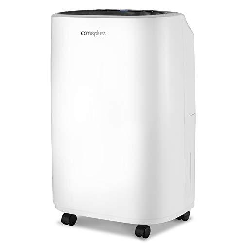 COMEPLUSS Deshumidificador de 12 litros con tanque de agua portátil para alta humedad en el hogar, cocina, dormitorio, baño, sótano, oficina