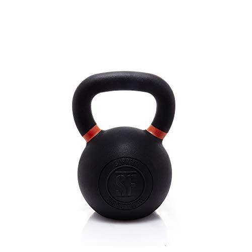 Suprfit Elite Kettlebell - Kugelhantel aus Gusseisen fürs Krafttraining und Cross Training, Gewicht: 28 kg, Schwunghantel geeigent zum Reißen, Stoßen und Drücken, pulverbeschichtet