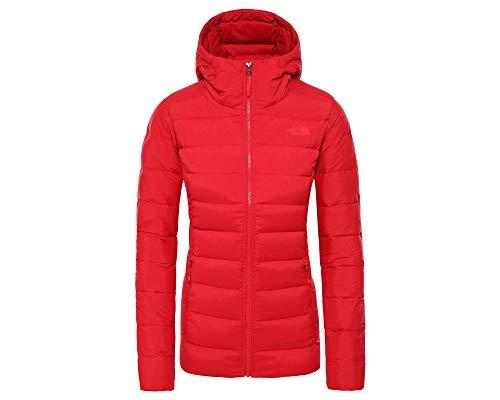 The North Face W Stretch Down Hoody - Sudadera con capucha para mujer, color rojo