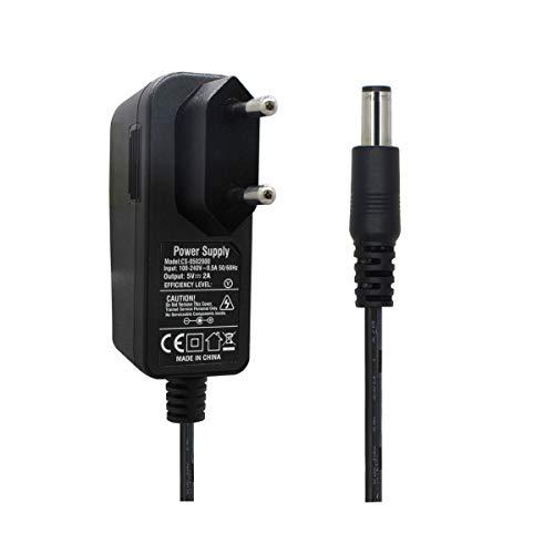 AC zu DC 5V 2A Netzteil Adapter, Stecker 5,5mm x 2,1mm für CCTV-Kamera DVR LED String Licht