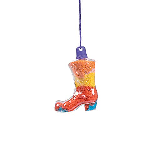 Cowboy Boot Sand Art Bottle Necklaces - Crafts for Kids and Fun Home Activities
