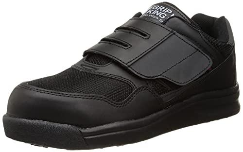 [ノサックス] ワークシューズ 安全靴 作業靴 耐滑プロテクティブスニーカー JSAA規格A種 耐滑 先芯入り GK Safety マジックタイプ メンズ ブラック 27.0 cm 3E