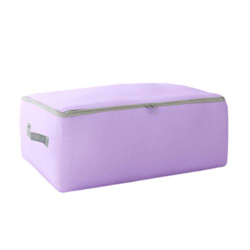 Moisture Resistant Oxford Fabric Storage Bag for Clothes, Luggage Clothes, Packing Bag, Purple_M