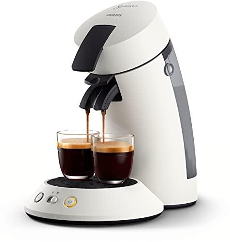 Philips Senseo Original Plus CSA210/10 ekspres do kawy na saszetki (wybór mocy kawy, technologia Coffee Boost, wykonany z plastiku pochodzącego z recyklingu), biały