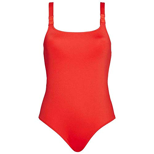 Calvin Klein Cross Back One Piece-rp Bikini, Rojo (Fiery Red Xa7), 34 (Talla del fabricante: XX-Small) para Mujer