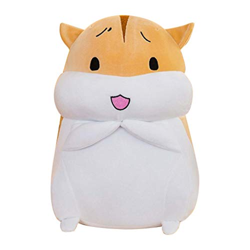 Houshelp Hamster Cute Stuffed Animal Plush Toy Adorable Soft Brown Hamster Toy Plushies and Gifts Perfect Present for Kids Babies Toddlers Super Soft Plush Toy Pillow Pet 40cm