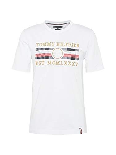 Tommy Hilfiger - Camiseta para Hombre, Color Blanco