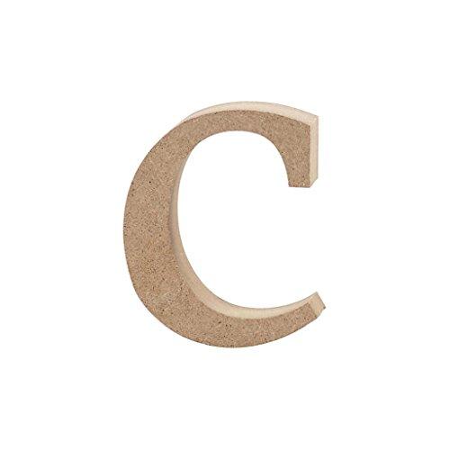 Lettre, h: 8,4 cm, MDF, c, 1 pièce