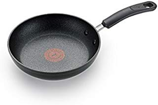 T-fal C5610264 Titanium Advanced Nonstick Thermo-Spot Heat Indicator Dishwasher Safe Cookware Fry Pan, 8-Inch, Black