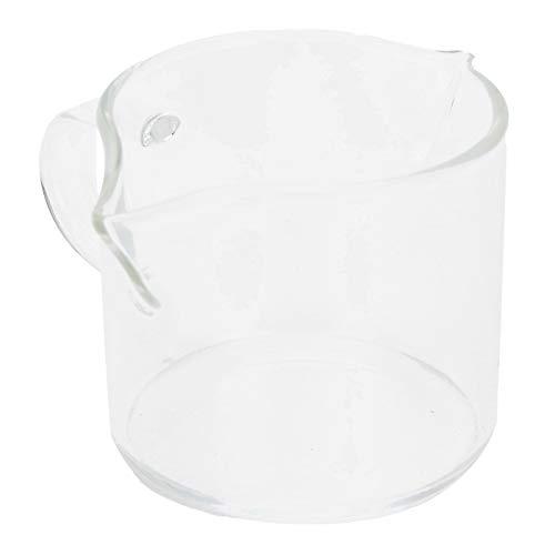 SALALIS Taza medidora de Vidrio, Taza de café Resistente al Calor, fácil de agarrar, Ligera con asa para Bebidas frías para Bebidas Calientes