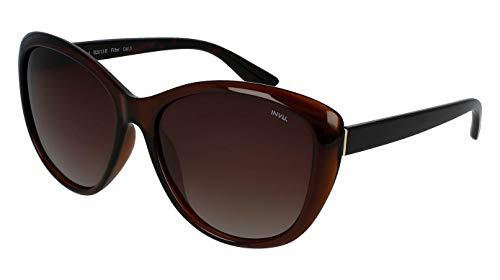 INVU Polaroid - Gafas de sol polarizadas para hombre y mujer, vintage, unisex, retro, B2013B, marrón/demi