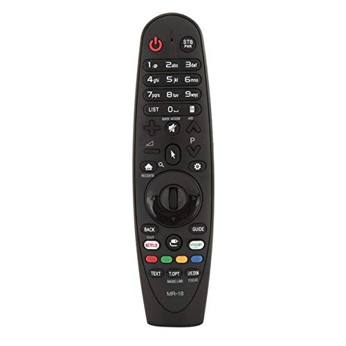 Shy-RC Smart Television Control Remoto Reemplazo Ajuste para LG AN-MR600 AN-MR650 TV Intelligent TV Control Remoto Ajuste para LG Smart TV (Color : Negro)