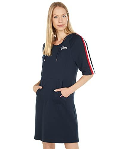 Tommy Hilfiger Short Sleeve Hoodie Dress Sky Captain XL (US 16-18)