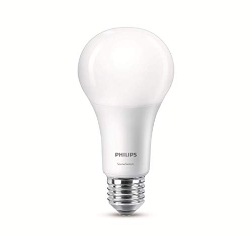 Philips SceneSwitch 2-in-1 LED Lampe, ersetzt 100W, EEK A+, E27 Standardform, Warm to Cool, neutralweiß-warmweiß