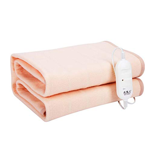 DMGY Electric Heated Blanket, Heated Throw Over Blanket with 2 Levels of Temperature Adjustment, Washable Fabrics for Full Body Comfort,150 * 130CM