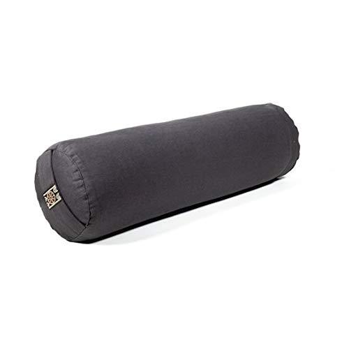 Yamkas Yoga Bolster - Rolle mit Buchweizenfüllung - Yoga Bolsters mit Waschbarer Bezug aus Baumwolle - Pilates küssen - Yogarolle - 40 x 12 cm -...