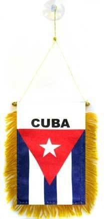 AZ FLAG Wimpel Kuba 15x10cm - KUBANISCHE Mini Flagge 10 x 15 cm - Auto Pennant spezielle Auto