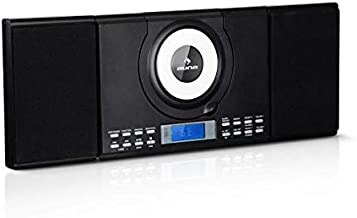 auna Wallie Microsystem • Stereo System • Micro System • 2 x 10 Watts RMS Stereo Speakers • Front-Loading CD Player • FM Tuner • Bluetooth • USB Port • LCD Display • Incl. Remote Control • Black