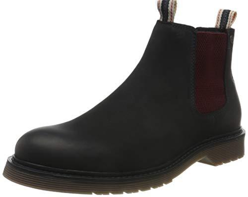 Jack & Jones JFWLEYTON Leather Navy Blazer, Botas Hombre, Azul Marino, 40 EU