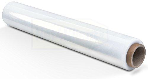 Net4Client 1 x Pallet Stretch Wrap Roll Clear Cajas de Embalaje de Paquetes Wrap Cling Film Estiramiento Roll Fast Paquete de Embalaje Fuerte 500 mm 150 m 23µm 1,5 kg