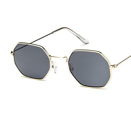RQMQRL Uv400 Platz Brille Frauen Sonnenbrille Hexagon Polygonal Kleine Full Frame Ocean Film Klare Linse Männer Sonnenbrille Marke