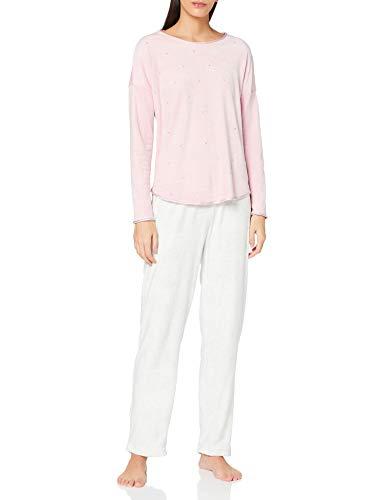 Women' Secret Pijama Largo Velour Detalles Strass Juego, Morado/Lila, M (Pack de 2) para Mujer