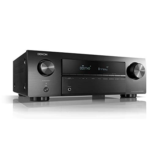 Denon AVR-X250BT - Receptores audio/video de alta definición, color negro
