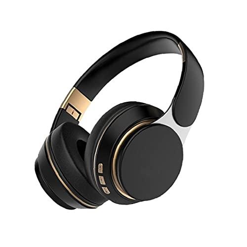 Auriculares inalámbricos auriculares Bluetooth Auriculares estéreo Bluetooth Cancelación de ruido Auriculares para juegos inalámbricos con micrófono negro