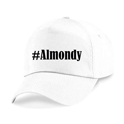 Reifen-Markt Base Cap #Almondy Größe uni Farbe Weiss Druck Schwarz
