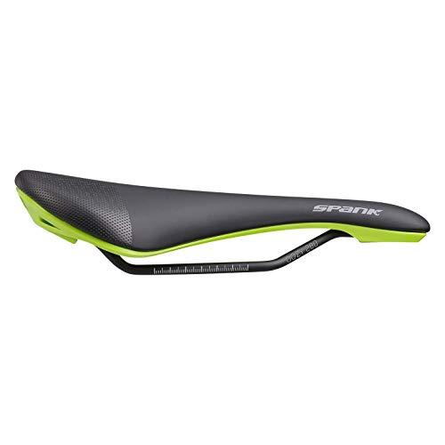 Spank OOZY 280 - Sillín de Bicicleta para Adulto, Unisex, Color Negro y Verde, 265 mm x 144 mm