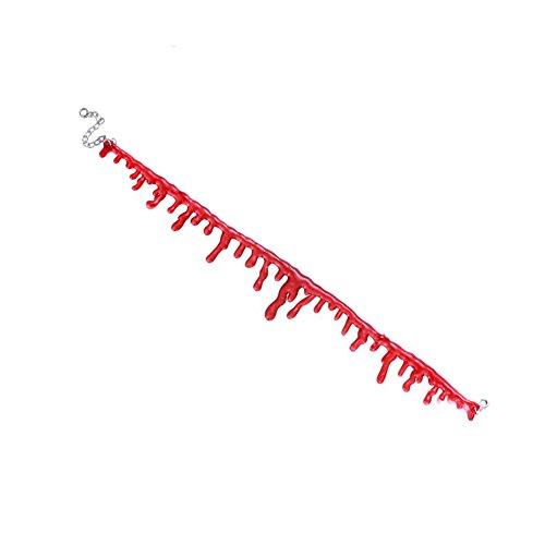 Gargantilla con diseo de pelcula de terror, imitacin de corte sangriento, para disfraz de Halloween