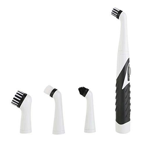 Cepillo eléctrico oscilante herramienta de limpieza, con 4 cabezales de cepillo, cepillo de mano para el hogar, baño, cocina, bañera, suelo de baldosas