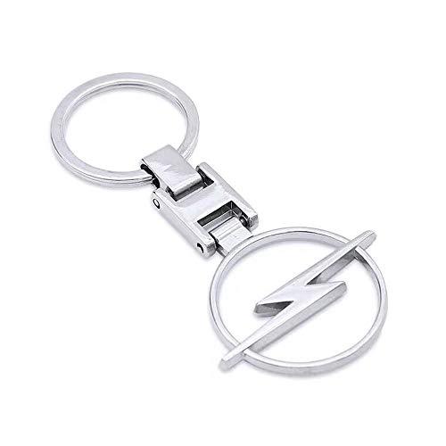 Rodeten 3D Auto Opel Schlüsselanhänger geprägte doppelseitige Legierung Metall Auto Schlüsselbund Anhänger Mann Schlüsselanhänger für Autozubehör