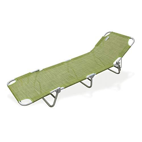 Lettino prendisole pieghevole verde da 67x74x140 cm