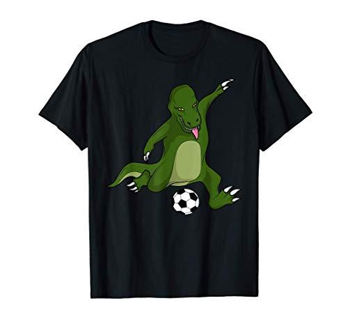 Goal Scoring Dinosaur Kicking A Soccer Ball T-Shirt