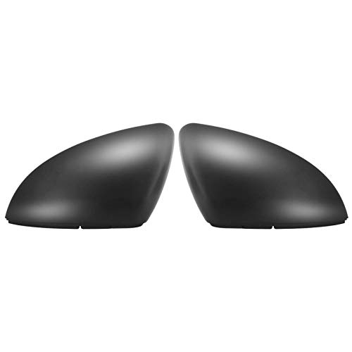 Par de tapa de espejo retrovisor para puerta de coche, color negro mate, para Volkswagen Golf 7 2014-2018 (negro)