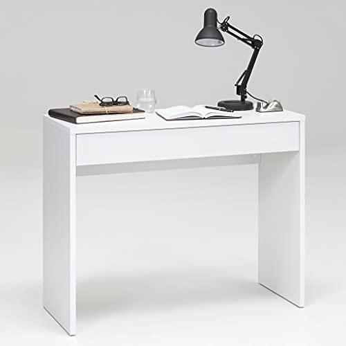 Escritorio de trabajo, con cajón grande, para dormitorio, oficina, maquillaje, escritorio, , 100 x 40 x 80 cm