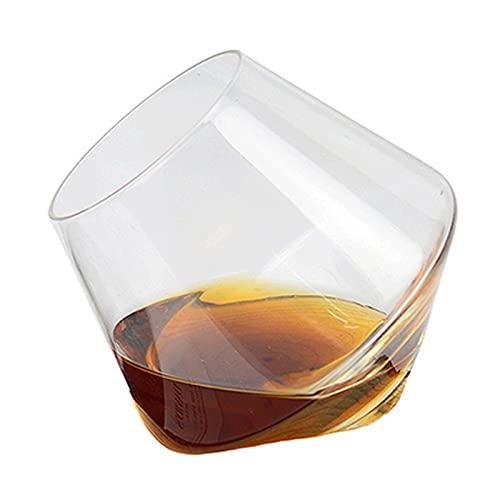 Vasos de Whisky, Vasos,Whisky Oscilante Sin Cristales de Plomo,Ron Premium Barware Cristalería,Decoración de MesaHombre,301-400ml