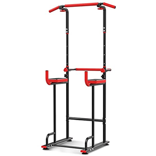 XiYou Barras paralelas Pull-ups Entrenador Deportivo Equipo de Fitness doméstico Dominadas Interiores Domésticas (Rojo, 66 * 76 * 220cm)