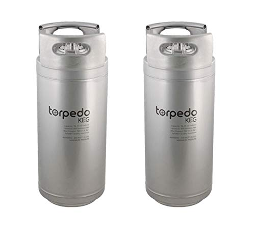 2 Pack 5 Gallon Stackable Stainless Ball Lock Corny Type Soda Or Beer Kegs