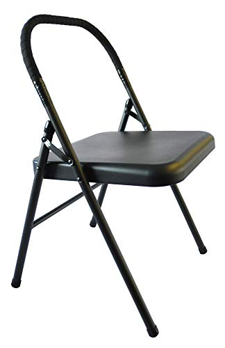 Pune Yoga Chair - Black Chair with Black Wrap