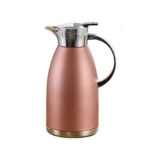 Koffie van het Roestvrij karaf 2L Thermoskan Food-grade roestvrij staal Double-Wall thermoskan Koffiepot Anti-Lekkage Anti-Splashing Juice Milk Tea Pot Insulation Thermal Jug