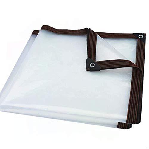 YLKCU Lonas Lona Transparente Resistente al Agua 3\'x3 \', Tela Transparente Espesada Impermeable a la Lluvia, Protector Solar Impermeable Balcón Exterior toldo a Prueba de Polvo, protección UV