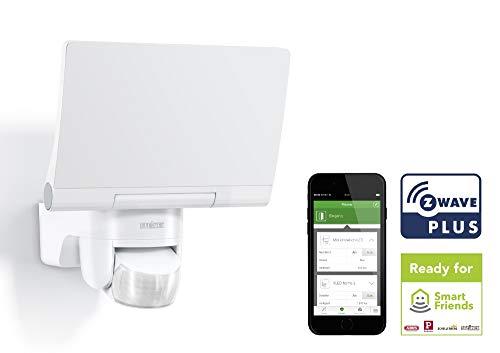Steinel Smart Home LED Außenstrahler XLED Home 2 Z-Wave weiß, Smart Friends-Hausautomation, Flutlicht voll schwenkbar