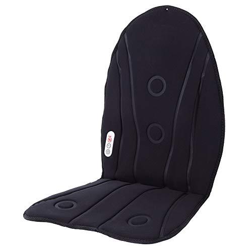 Car Seat Massage Cushion Waist Back Massage Seat Heated Car Seat Cushion for Office Seat for Muscle Pain(British standard 220v)