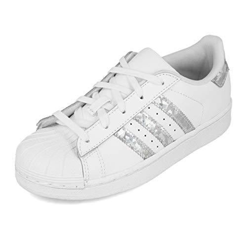 Adidas Superstar C, Zapatillas Unisex niños, Blanco (Footwear White/Footwear White/Footwear White 0), 34 EU