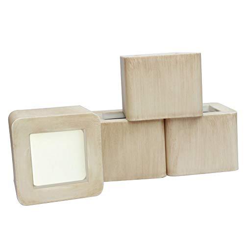 UPCHIC Elevadores de cama, elevadores cuadrados para mesa o elevadores para muebles, protectores de suelos y superficies | Añade altura de 3 pulgadas (4 unidades)