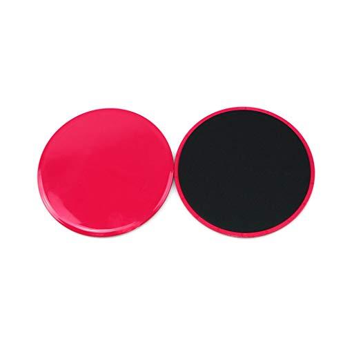 niumanery Portable Yoga Slider Sliding Disc Anti-slip Fitness Plate Gym Exercise Equipment Rose Red