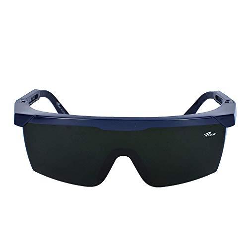 Mufly Schweißerbrille Schweißer Sicherheitsbrillen,klappbar,Anti-Flog,Anti-Shock,Blendschutz,Schutzgläser für Schweißer mit transparenter und schwarzer Brille(IR5.0) - 8